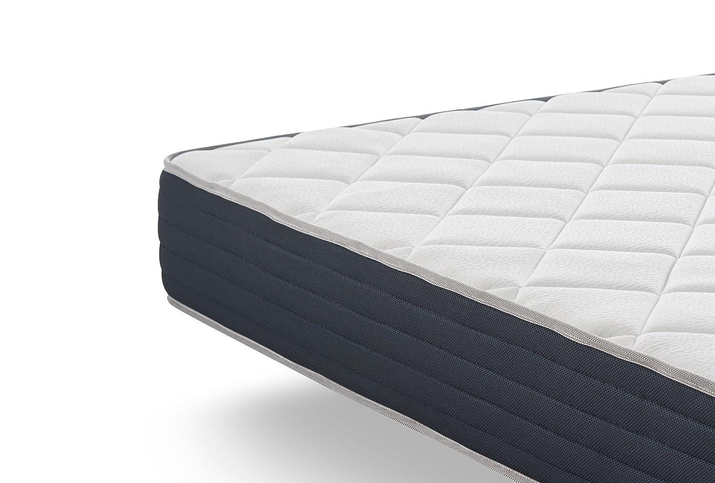 NATURALEX Matelas Supervisco Tr/ès Haute Fermet/é 25 cm M/émoire de Forme 140 x 190 cm Mousse adaptative Blue Latex 7 Zones de Confort