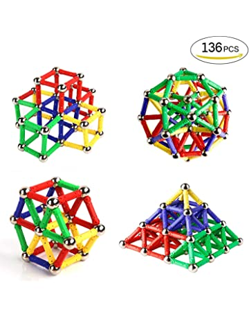 Ausear 136 Piezas Magnetic Sticks Building Block Toys, Children Intelligence Juguetes de aprendizaje y Brain