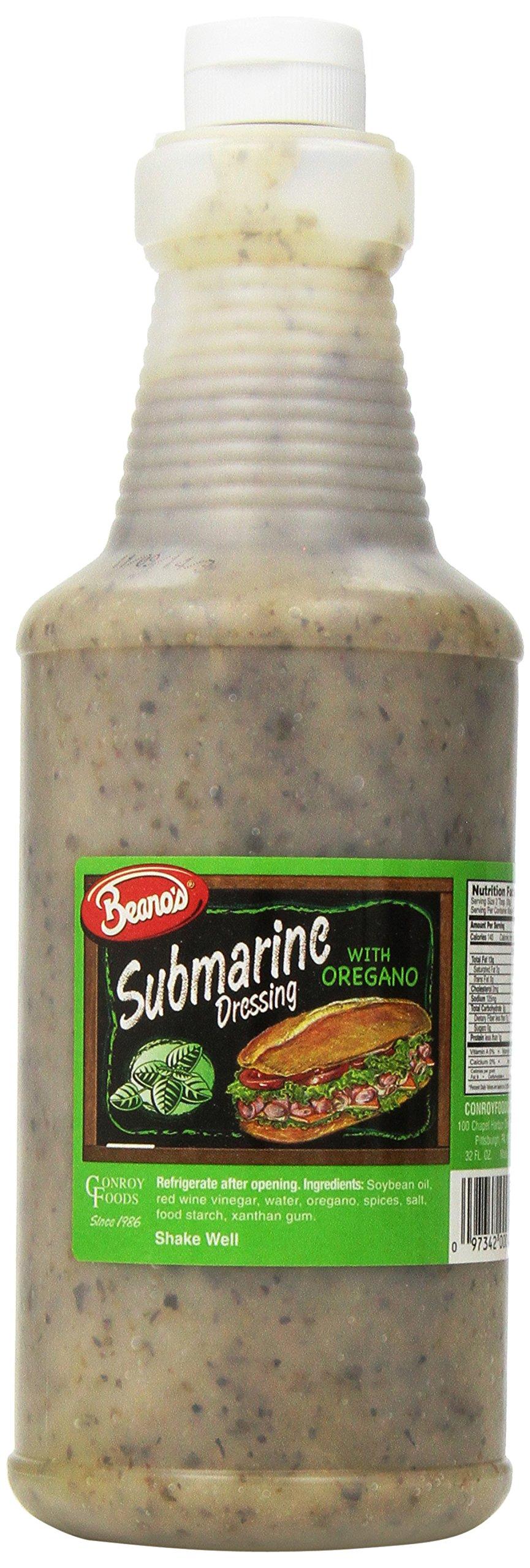 Beano's Submarine Dressing, Oregano, 32 Ounce (Pack of 4)