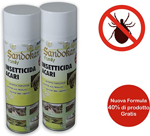 Sandokan - Insecticida antiácaros, 300 ml, 2 unidades: Amazon.es: Jardín