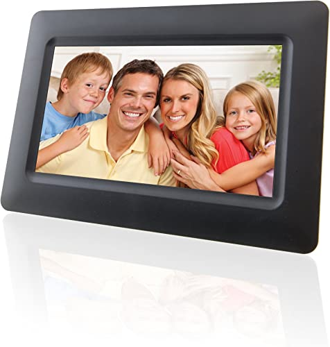 GPX, Inc. PF702B 7-Inch Digital Photo Frame with SD MMC Memory Card Reader Black