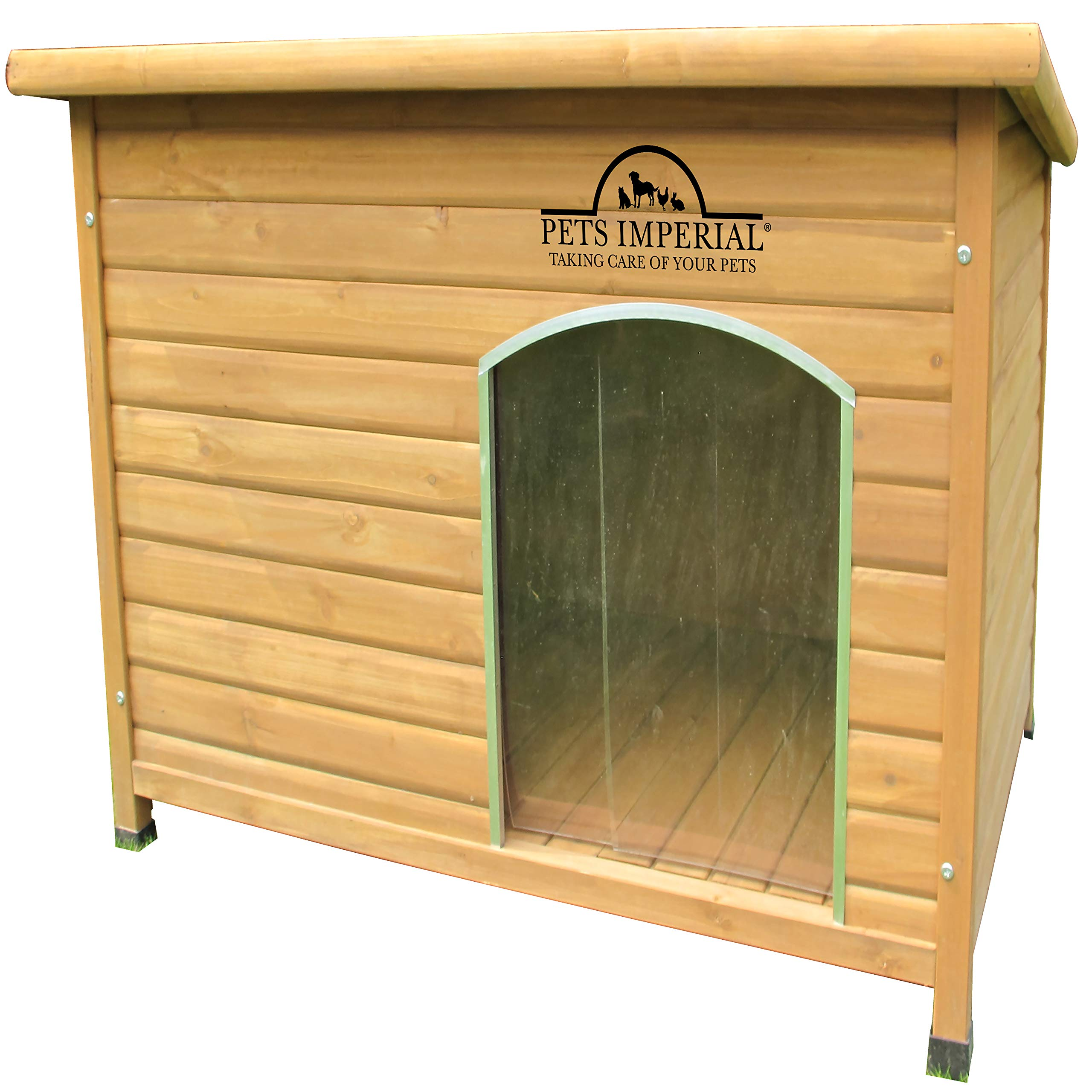 Pets Imperial Extra Large Insulated Wooden Norfolk Dog Kennel With Removable Floor For Easy Cleaning by Pets Imperial