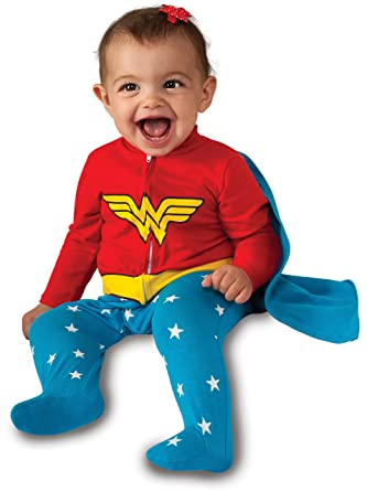 Rubieu0027s Baby Girlu0027s DC Comics Superhero Style Baby Wonder Woman Costume Multi 0-  sc 1 st  Amazon.com : toddler wonder woman costume  - Germanpascual.Com