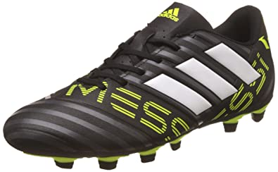 a70b8ac283a Adidas Men s Nemeziz Messi 17.4 FxG Cblack Ftwwht Syello Football Boots - 6  UK