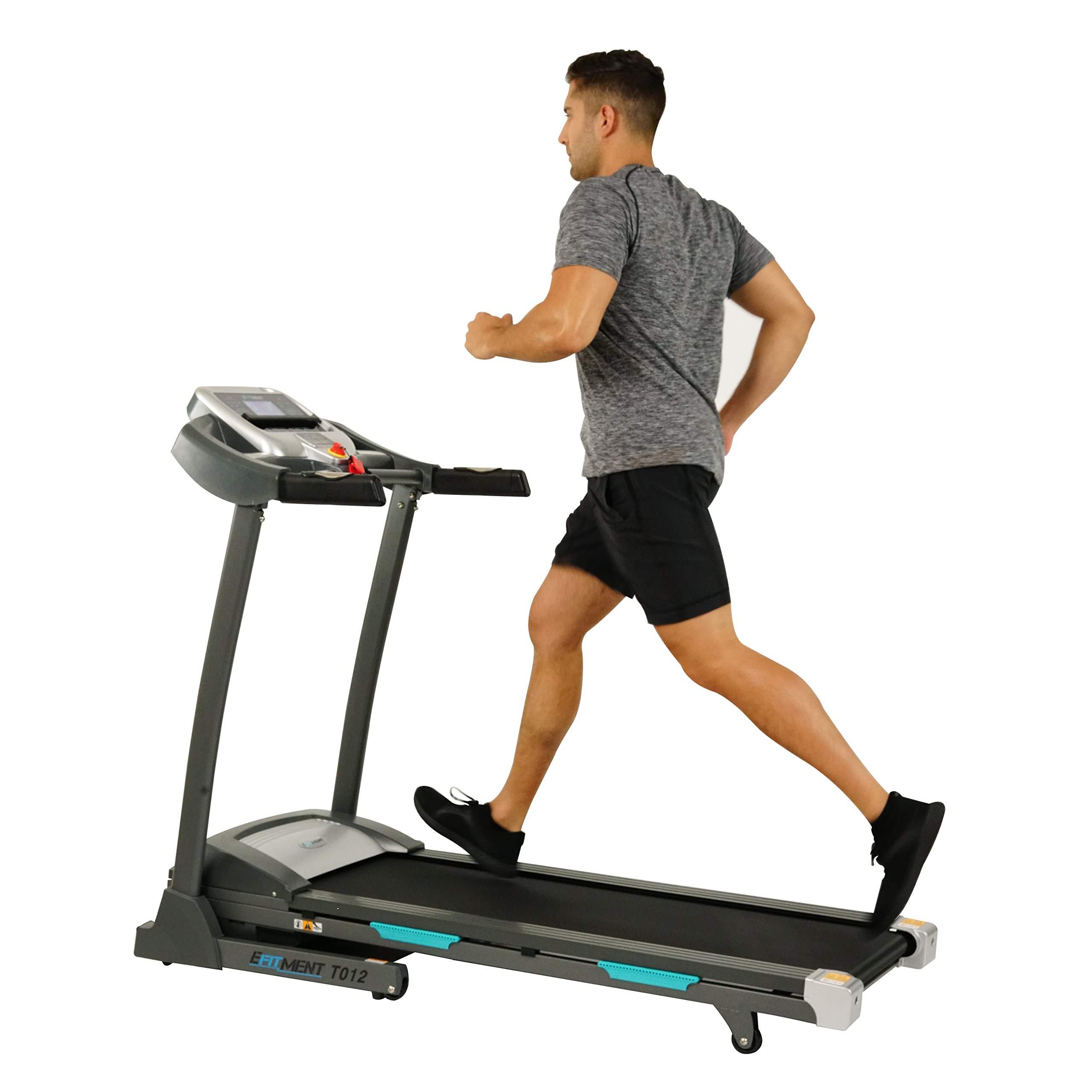 Auto Incline Bluetooth Motorized Treadmill w/ Speakers & Folding for Running & Walking by EFITMENT - T012 by EFITMENT