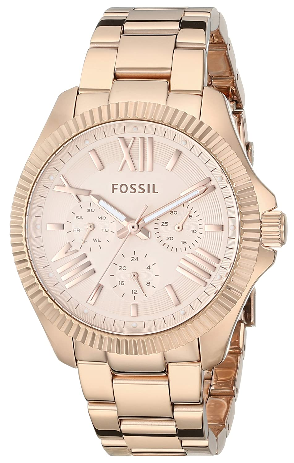 Fossil Womens Am4569 Cecile Rose Gold Tone Stainless Es3380 Original Boyfriend Chronograph Steel Bracelet Watch Watches