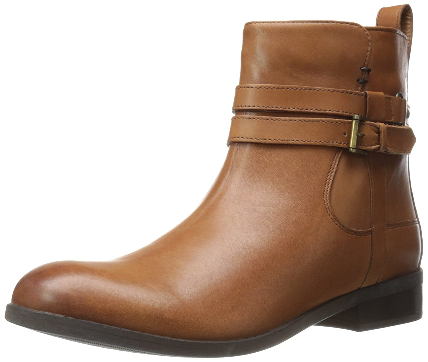 Amazon.com | CLARKS Women's Pita Austin, Dark Tan Leather, 8 M US | Ankle &  Bootie