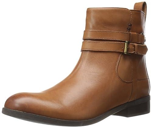 Clarks Women's Pita Austin Western Boot, Dark Tan Leather, ...