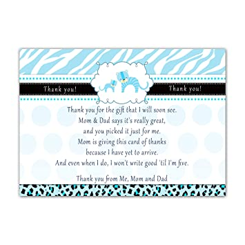 Amazon Com 30 Thank You Cards Notes Tiger Cub Baby Boy Shower