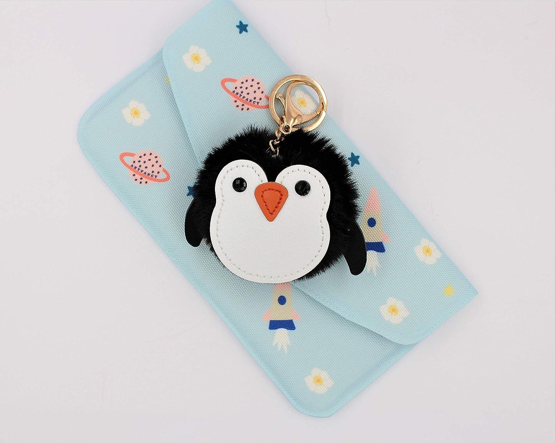 Amazon.com: Llavero de pompón con diseño de pingüino Fuzzy ...