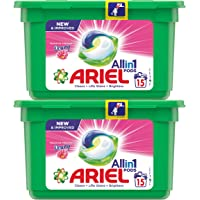 Ariel All in1 PODS, Washing Liquid Capsules With Touch Of Freshness Downy, 2 x 15 Count