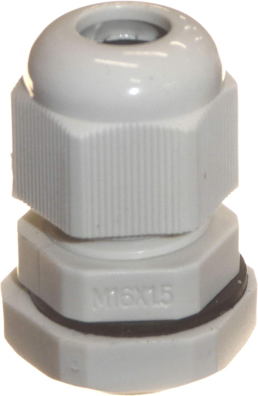 wasserdicht IP68 mit Gegenmutter und Unterlegscheibe 8 mm Kabel 10 St/ück grau M16 16 mm TRS Kompressionsverschraubungen f/ür 4