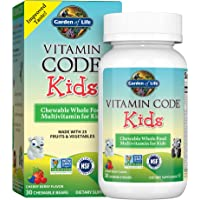 Garden of Life Vegetarian Multivitamin Supplement for Kids - Vitamin Code Kids Chewable Raw Whole Food Vitamin with…