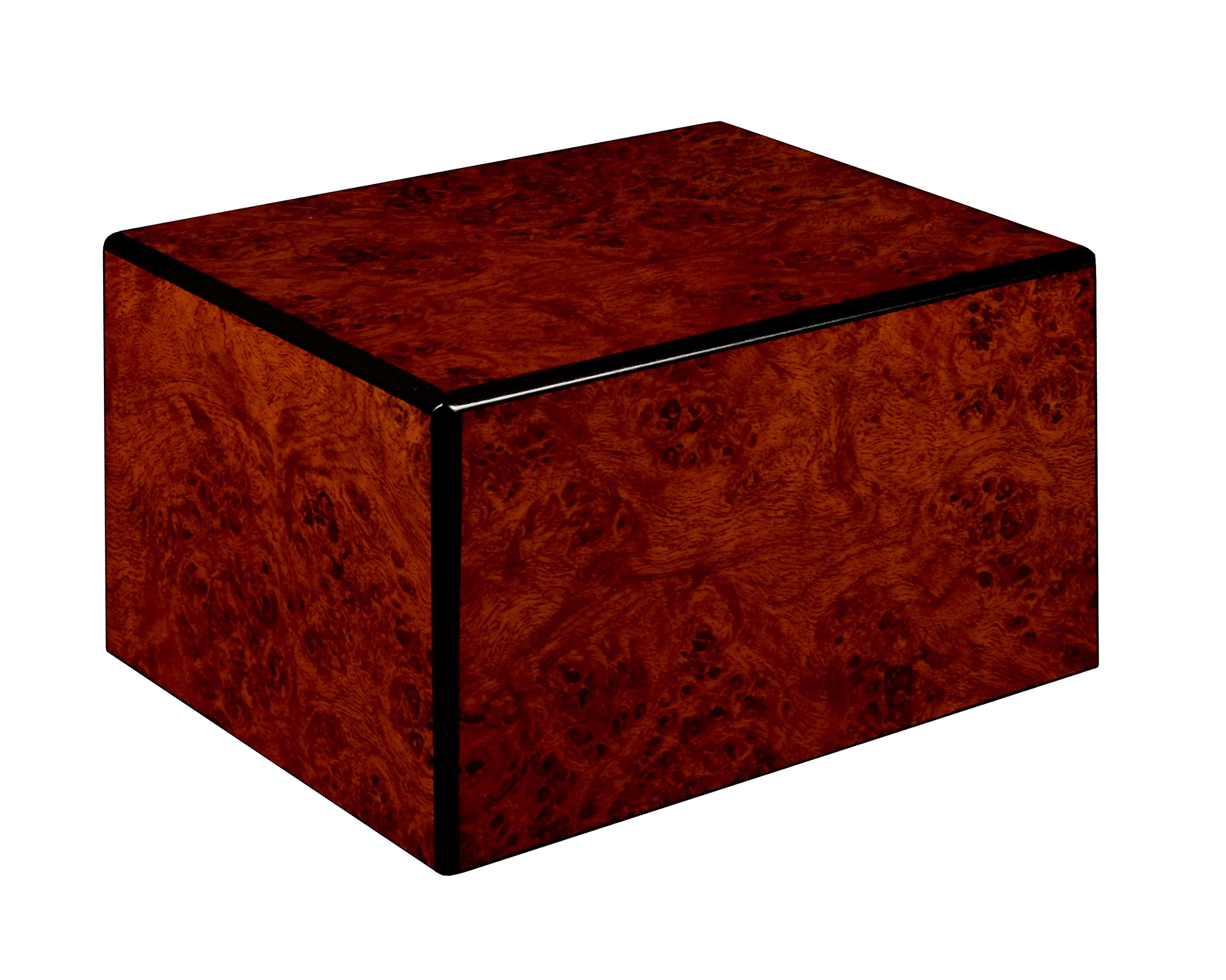 Chateau Urns Society Collection, Large Adult Cremation Urn, Burl Wood Finish by Chateau Urns