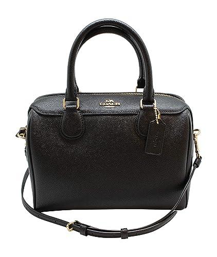 38d3f75417e9c COACH MINI BENNETT SATCHEL IN CROSSGRAIN LEATHER (Black)  Handbags ...