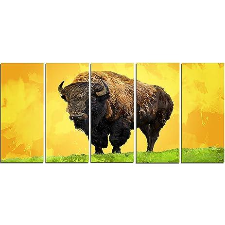 Amazon.com: Designart Lone Bison - Animal Metal Wall Art - MT2328 ...