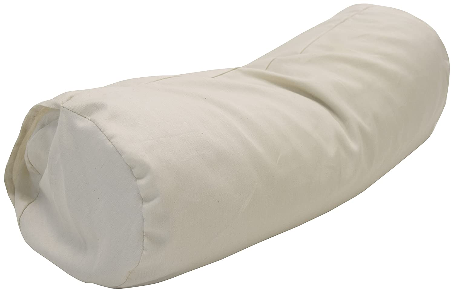 Bean Products Set of 2 - Neck Roll PILLOWCASES - Enclosed Sleeve Style - Wheat Dreamz -100% Certified Organic - Made in USA - Organic Natural
