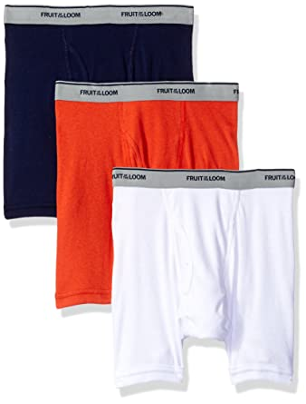 d4b146d855 Amazon.com  Fruit of the Loom Boys  Boxer Brief (Pack of 3 ...
