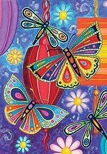 "Toland Home Garden 112570 Bright Wings 12.5 x 18 Inch Decorative, Garden Flag-12.5"" x18"""