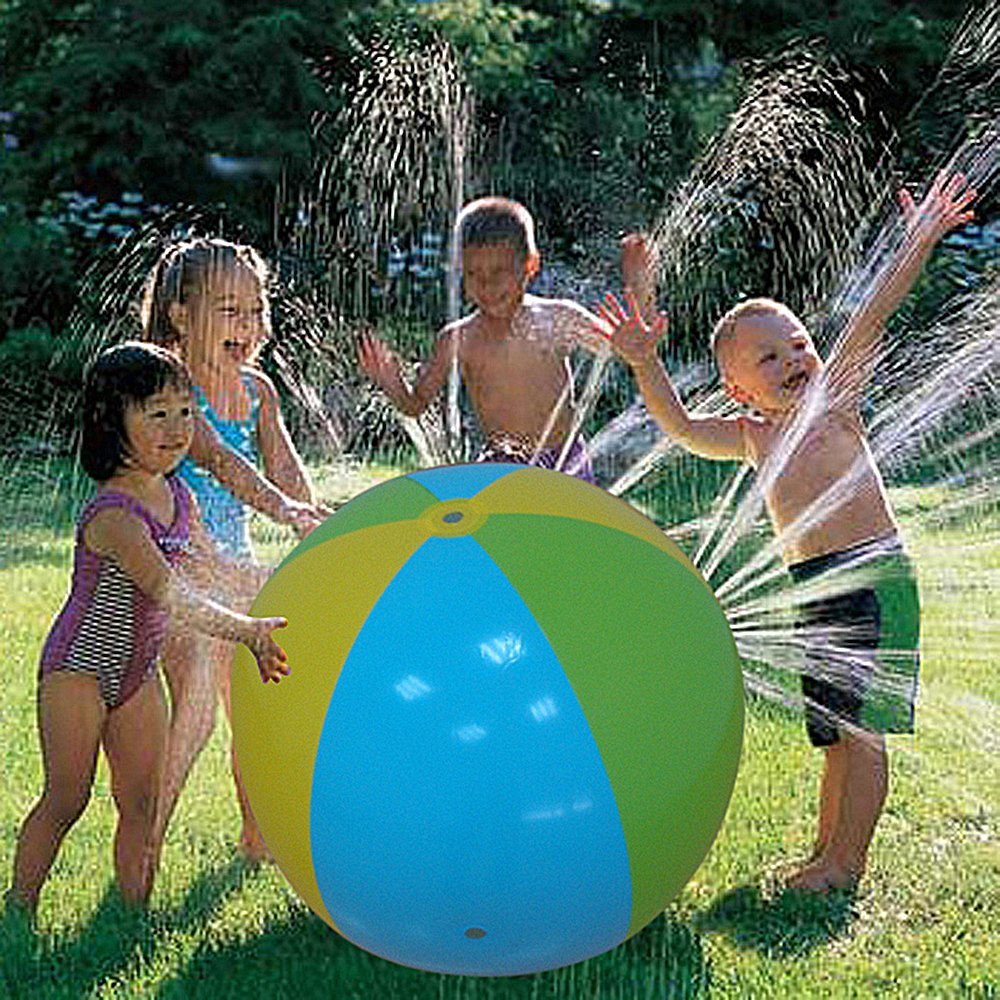 Large Inflatable Spray Water Ball Sprinkler Outdoor Grassp Fun Toy for Kids Children Swimming Party Beach Pool 30 inches