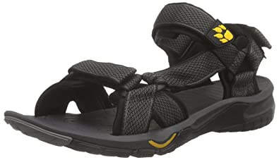 21dd04f377f0f8 Jack Wolfskin Men s LAKEWOOD RIDE SANDAL M Athletic Sandals Grey 6 UK (39.5  ...