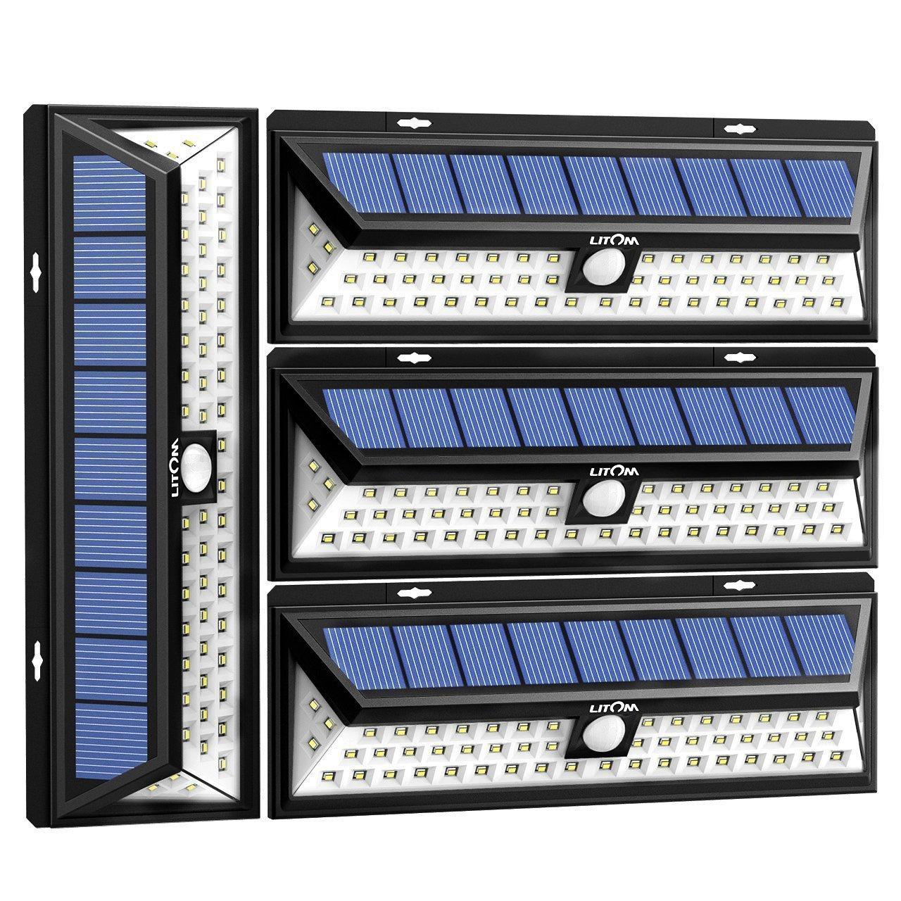 (2 PACK) - Litom 54 LED Solar Lights Outdoor Solar Power Light with Motion Sensor for Driveway Garden 2 Pack B01L3CG2PA 22933 2パック