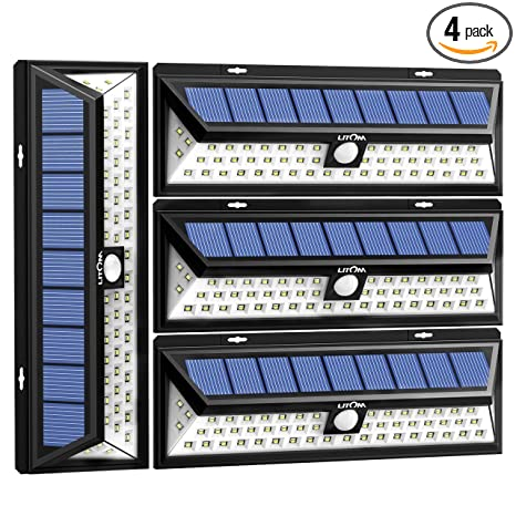 Litom solar lights outdoor 54 led super bright wide angle solar litom solar lights outdoor 54 led super bright wide angle solar powered light wireless workwithnaturefo