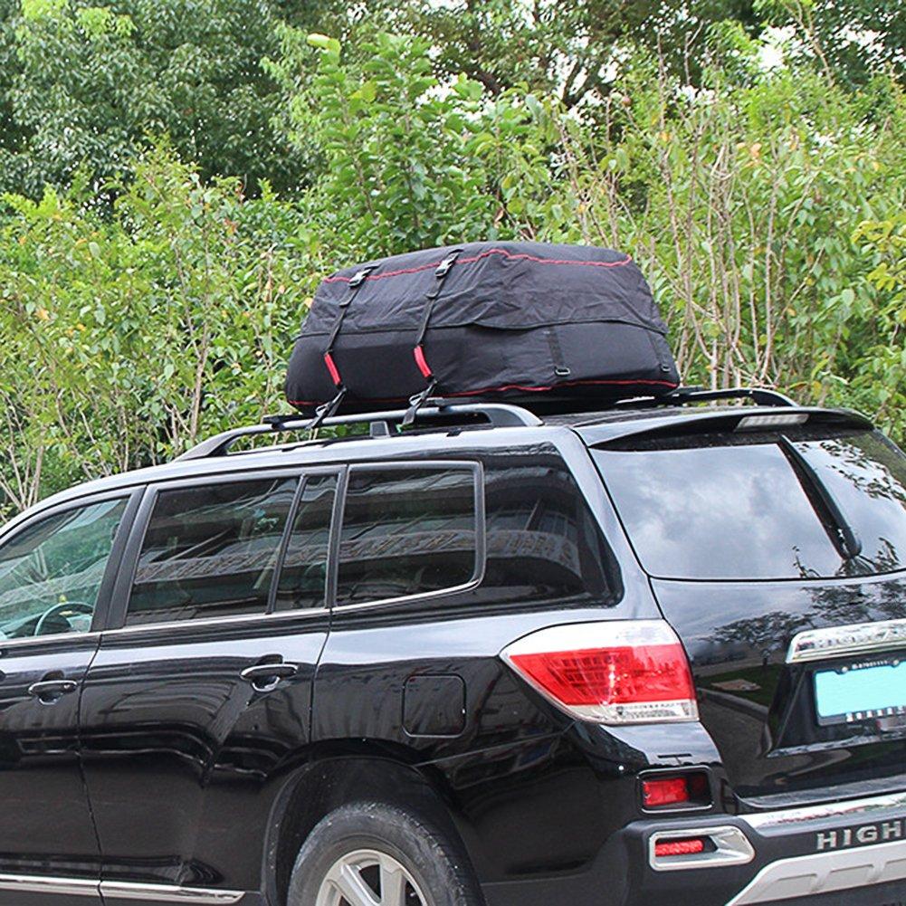 Luerme Outdoor Travel Camping Car 220L Waterproof Rainproof Dustproof Roof Top Cargo Carrier Oxford Cloth Roof Bag
