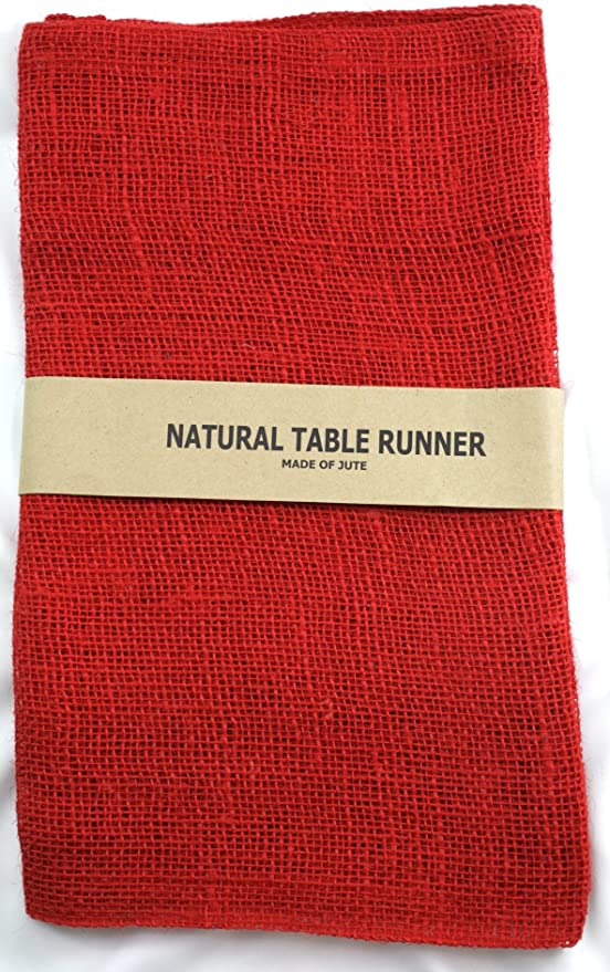 14 by 72-Inch Natural Kel-Toy Burlap Jute Table Runner//Fold and Sew Edge