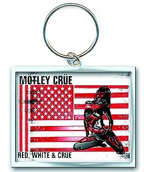 Rock Off - Motley Crue Esmalte Llavero Rojo y Blanco y Crue ...