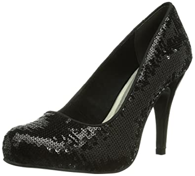 Tamaris 22425, Damen Plateau Pumps, Schwarz (Black Uni 007), 36 EU