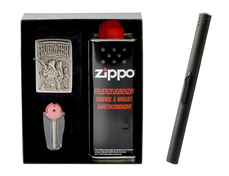 Zippo Feuerwehr Emblem im Geschenkset inkl. Stabfeuerzeug