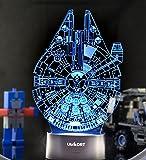 UbiKORT Star Wars Lamp 3D Night Light Millennium