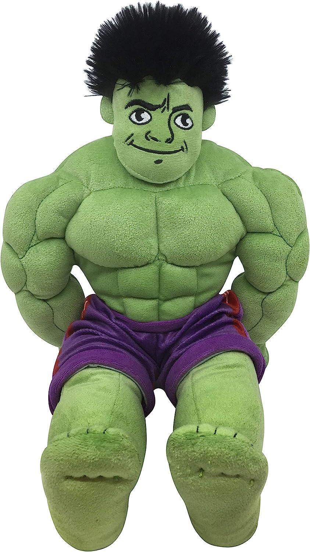 Jay Franco Marvel Super Hero Adventures Toddler Hulk Plush Stuffed Pillow Buddy - Super Soft Polyester Microfiber, 18 inch (Official Marvel Product)