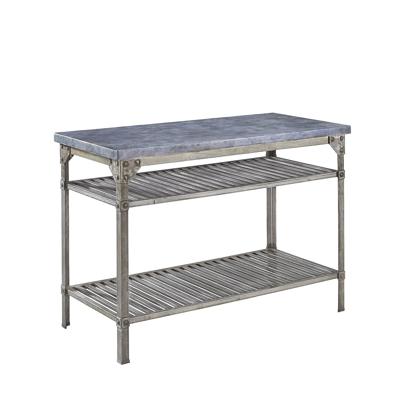 Amazon com home styles 5570 9412 urban style aged metal finish kitchen island kitchen islands carts