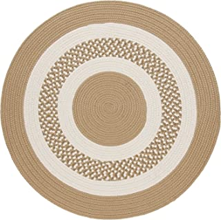 product image for Flowers Bay Round Area Rug, 6-Feet, Cuban Sand