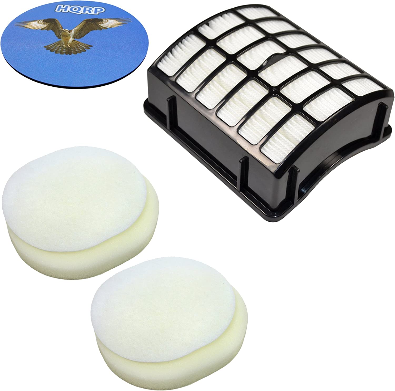 HQRP Kit: Two Pre-Motor Filters and Post Motor Filter Compatible with Shark NV-70 NV-80 NV-90 UV-420 XFF80 XFF8O XHF80 XHF8O Navigator Upright Vac Vacuum Cleaner Coaster