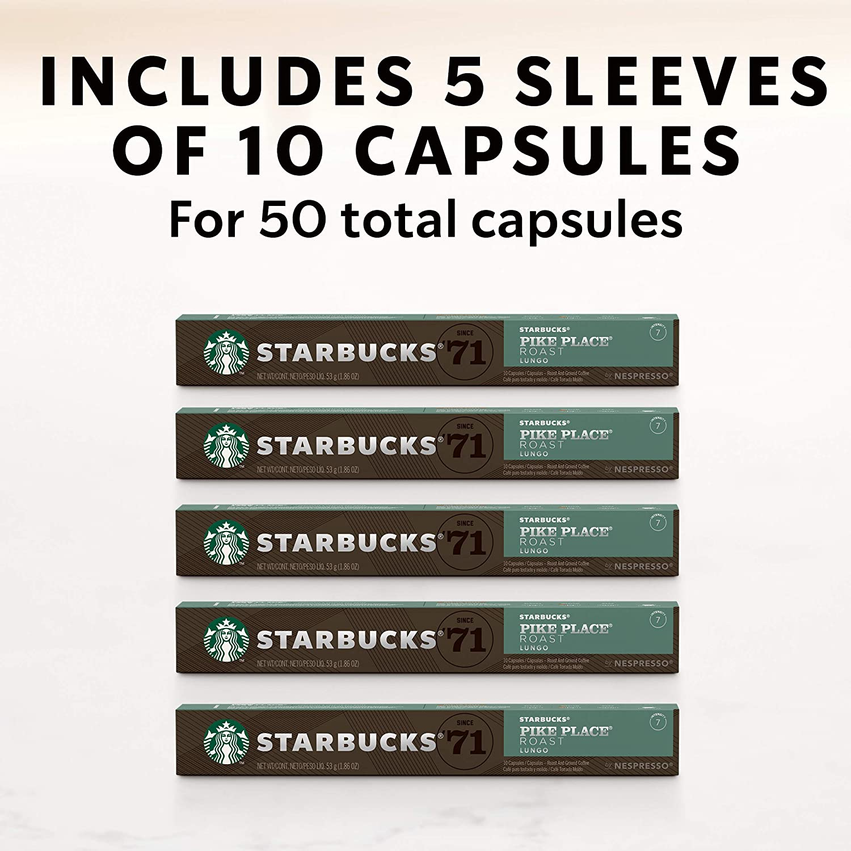 Intense Starbucks for Nespresso Variety Pack 50 Count