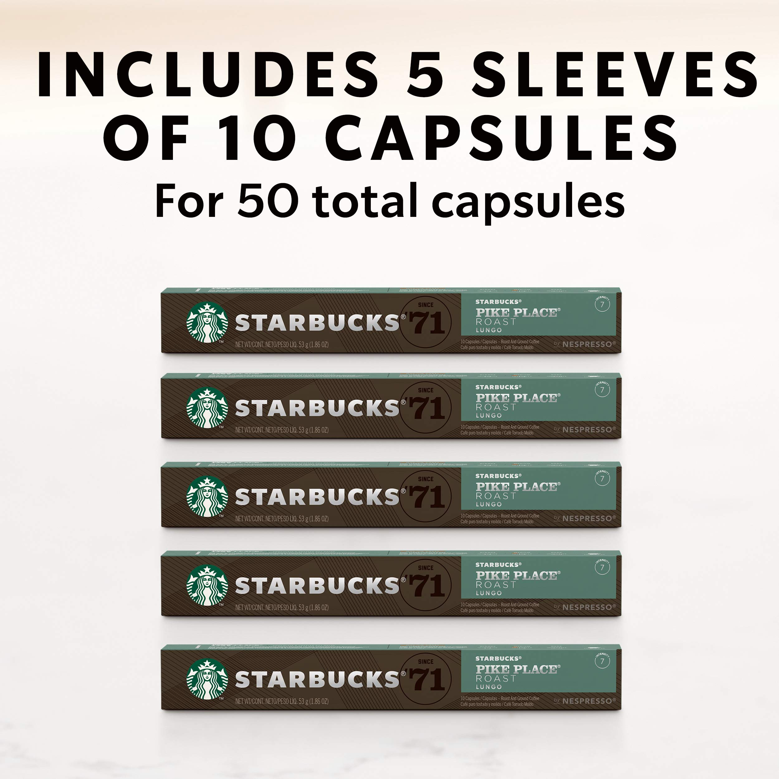 Starbucks by Nespresso, Pike Place Roast (50-count single serve capsules, compatible with Nespresso Original Line System) by Starbucks for Nespresso (Image #7)