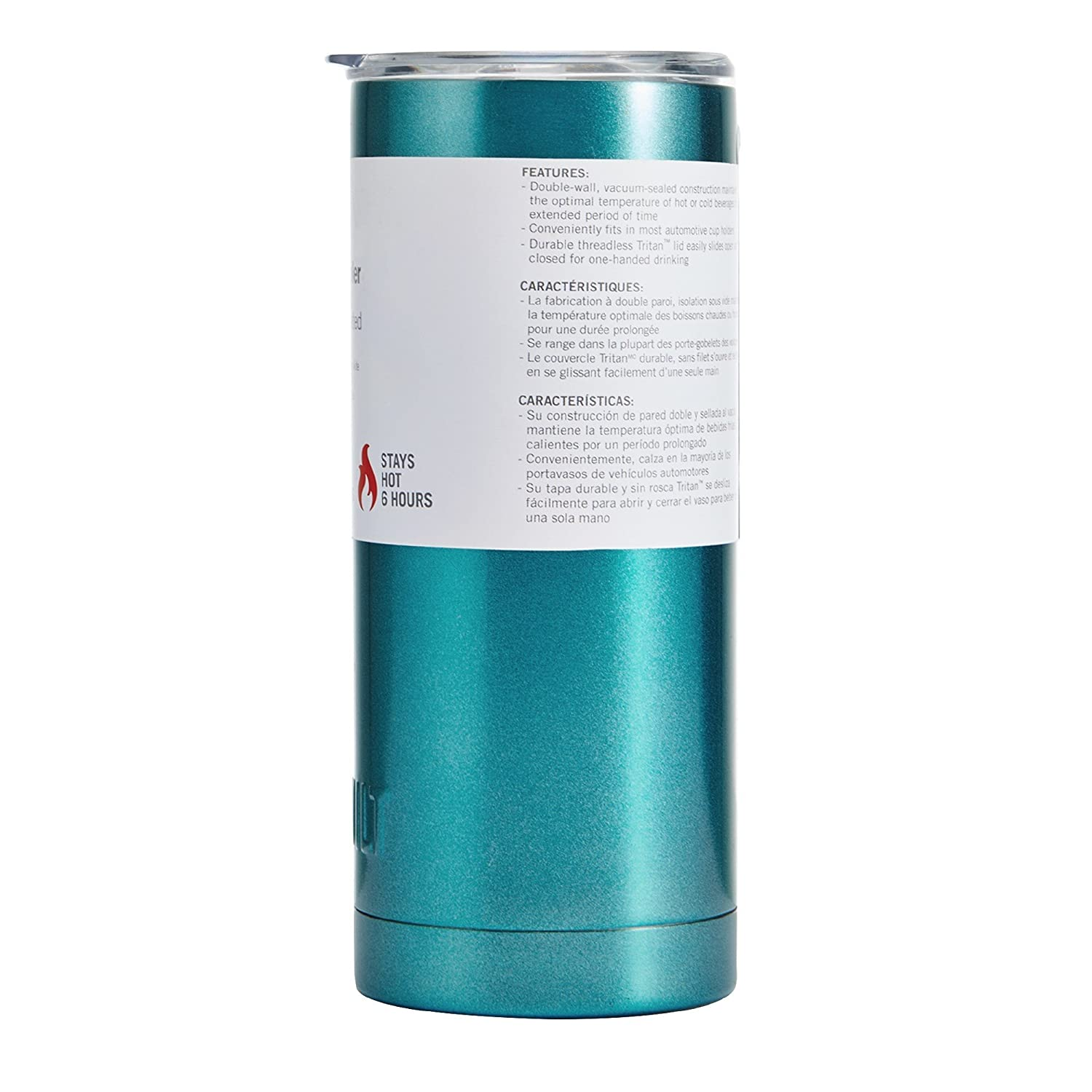 Amazon.com | Built Double Wall Stainless Steel Vacuum Insulated Tumbler, 20 Oz Metallic Teal: Tumblers & Water Glasses