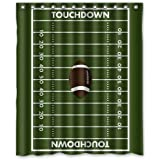 Awesome Custom Football Ground Field Shower Curtain Waterproof Polyester Bathroom  60 X 72 Inch