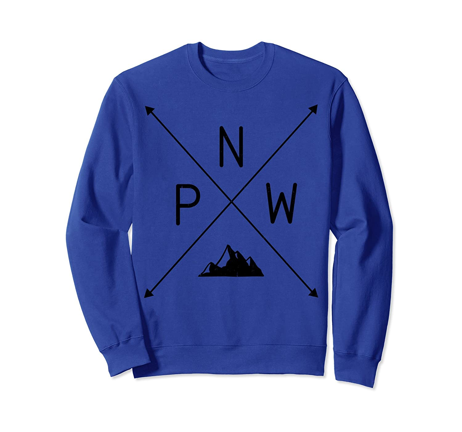 Distressed Pacific North West Mountain Sweatshirt-TH