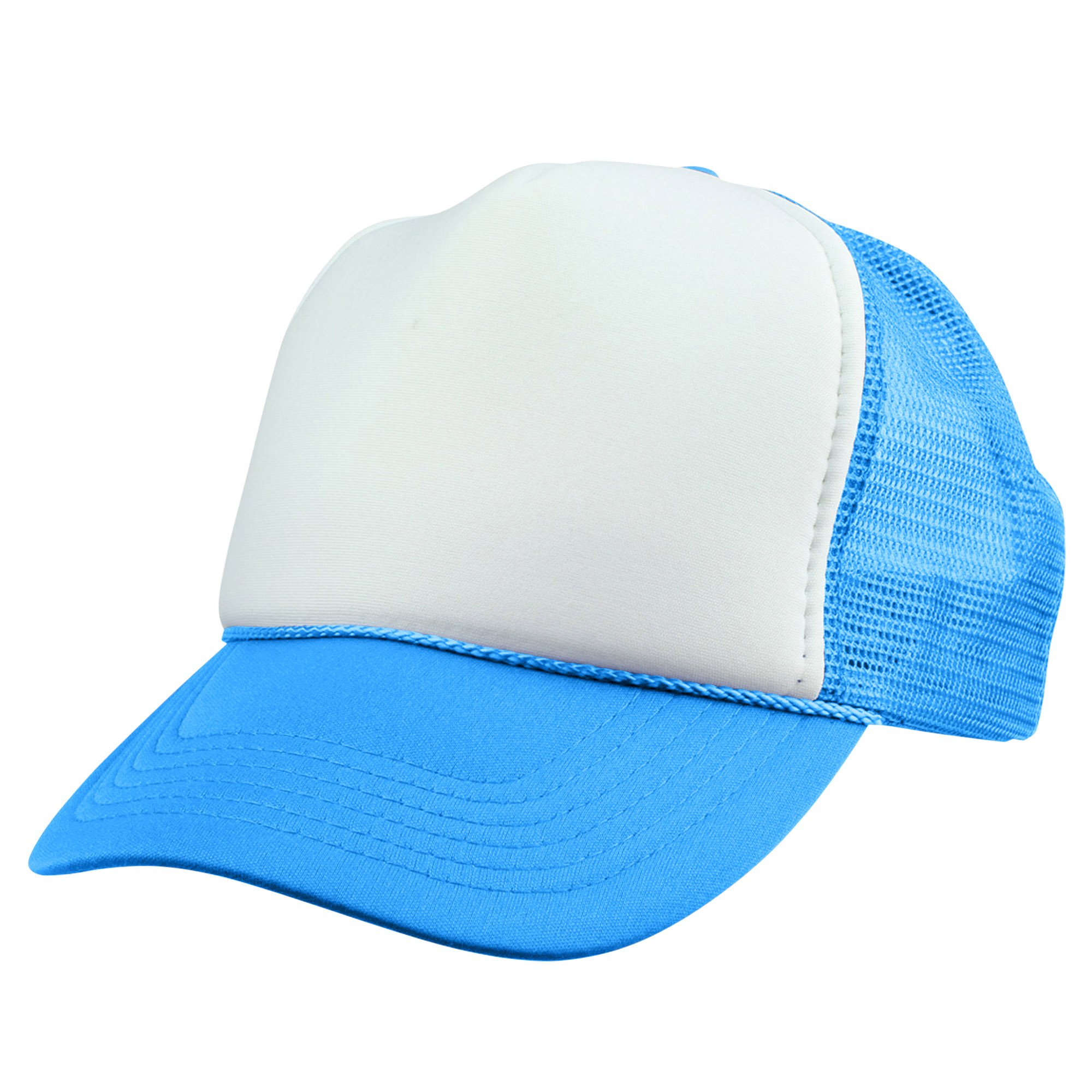 2129f2026 DALIX Trucker Cap Neon Blue Hat for Boys Youth Baseball Caps Small Head  Sizes