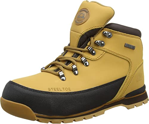 MENS NEW GROUNDWORK LIGHTWEIGHT STEEL TOE CAP SAFETY WORK HIKER TRAINER BOOTS
