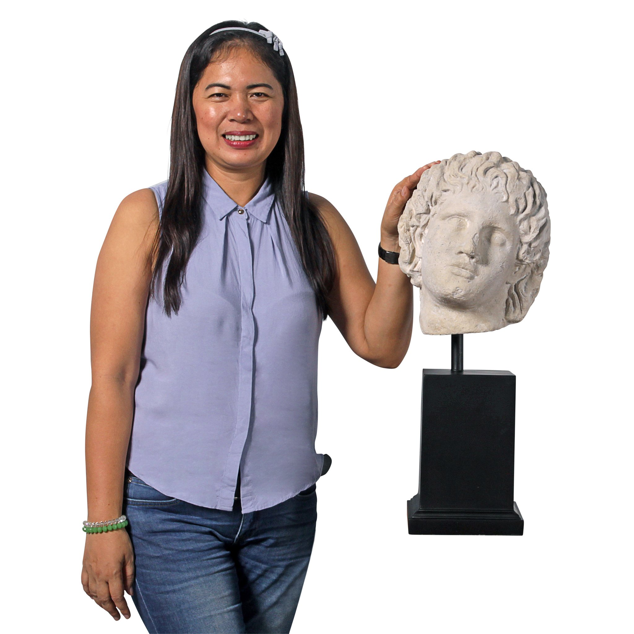 Design Toscano Alexander The Museum Mount Sculptural Bust, Antique Stone by Design Toscano (Image #5)