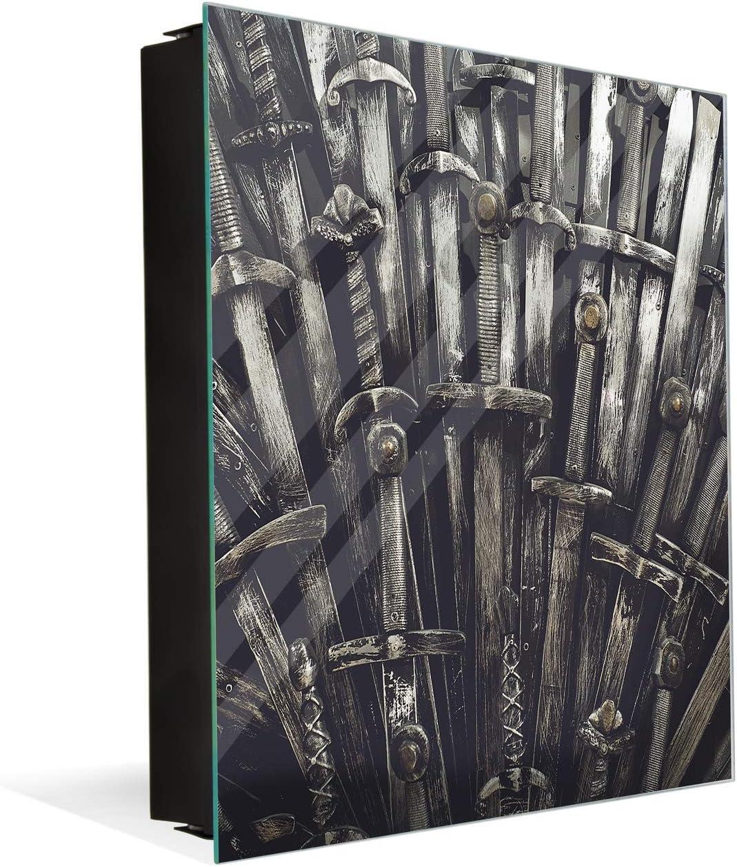 Pizarra de Cristal magnética con Cuadro para Llaves K05 Juego de Tronos Espadas: Amazon.es: Hogar