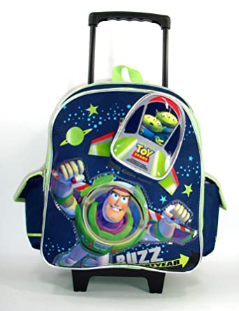 c7243c45f6d Disney Pixar Toy Story 3 Toddler 12 quot  Rolling Backpack Starring Buzz  Lightyear
