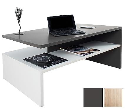 RICOO Tavolino basso da divano da soggiorno Design WM080-W-A Tavolo ...