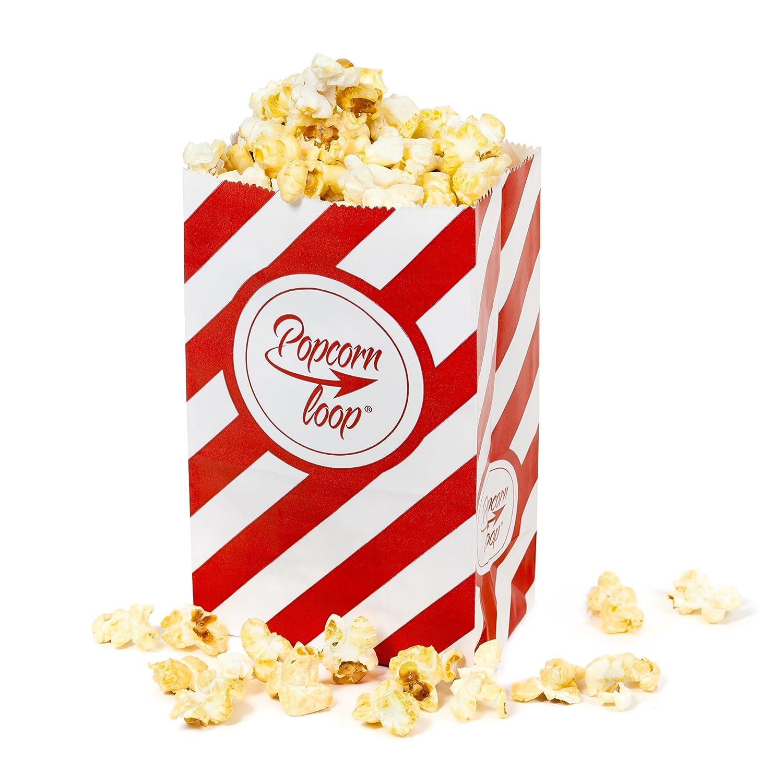 La original palomitas Loop palomitas bolsas 5 x 10 paquetes total 50 pieza material de papel experiencia de cine en casa: Amazon.es: Hogar