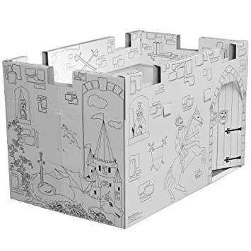 My Very Own House Cardboard Coloring Playhouse Castle, 28.5\